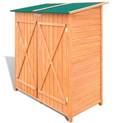 Outdoor Wood Storage Garden Shed Kit Solid Wooden Garden Sto