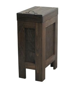 Wood Trash Can Kitchen Garbage Can Rustic Wood Trash Bin Wal