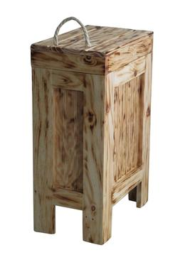 wood trash can kitchen garbage can rustic