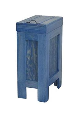 Wood Wooden Trash Bin Kitchen Garbage Can 13 Gallon Recycle