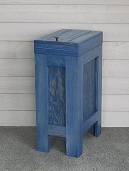 Wood Wooden Trash Bin Kitchen Garbage Can 13 Gallon , Recycl