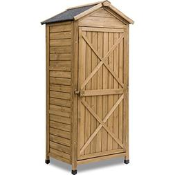 Leisure Zone Outdoor Wooden Storage Sheds Fir Wood Lockers w