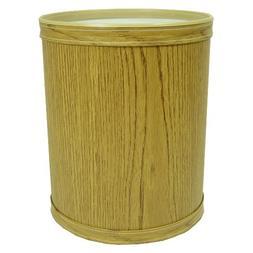 Woodgrain Vinyl Round Wastebasket