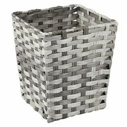 mDesign Woven Square Trash Can Wastebasket, Garbage Containe