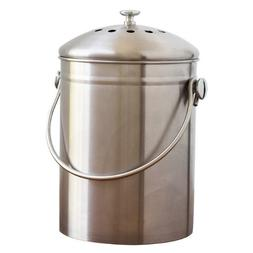 Natural Home Products WP77 1-3/10 Gal Stainless Steel Compos