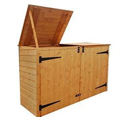 Prugist YardWorks Double Garbage Can Storage Shed