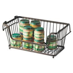 InterDesign York Lyra Open Wire Storage Basket for Kitchen,